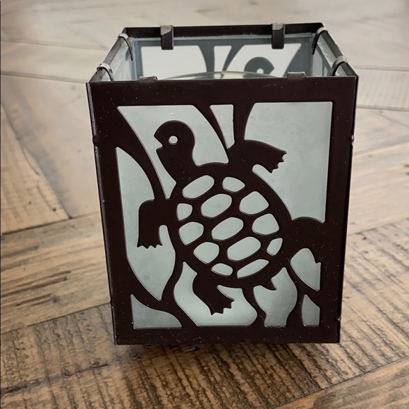 Pier 1 Other - Turtle 🐢 Stained Glass Votive Holder